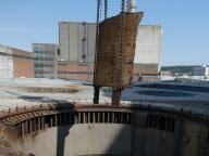 ausgeschnittenes Reaktorteil (18t), Dicken bis 35 cm
